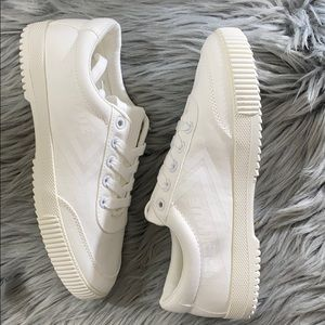 Feiyue Platform white canvas Sneakers 38 8108